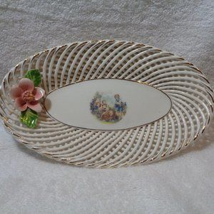 Beautiful Twisted Porcelian Dish Made in Spain